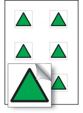 6 x Green Triangle Vibration Safety - 25 x 25mm