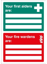First Aiders / Fire Wardens Are - Adapt-a-Sign
