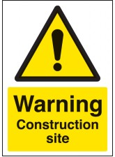 A4 Warning Construction Site