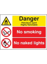 Petroleum Spirit No Smoking No Naked Lights