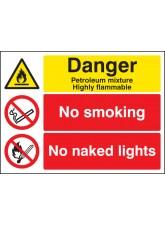Petroleum Mixture No Smoking No Naked Light