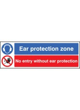 Ear Protection Zone No Entry without Ear Protection